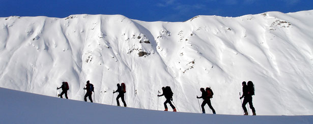 Ski touring in the Bernina, Switzerland